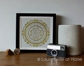 Mandala 2 handcut papercut by Loula Belle at Home