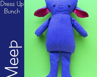 Meep - monster dress-up doll (Dress Up Bunch dressable rag doll)