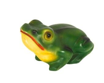 Chalkware Frog - Vintage - Carnival Chalk - Plaster - Souvenir - Statue