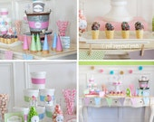 NEW INSTANT DOWNLOAD The Ice Cream Party Collection Printable Party Collection