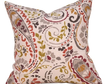 Designer Pillow - Thom Felicia - Paisley Pillow - Decorative Pillow