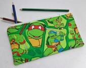 Ninja Turtles print Pencil Case/ Crayon Case/Makeup Bag/ Cosmetic Case/ Ready to Ship