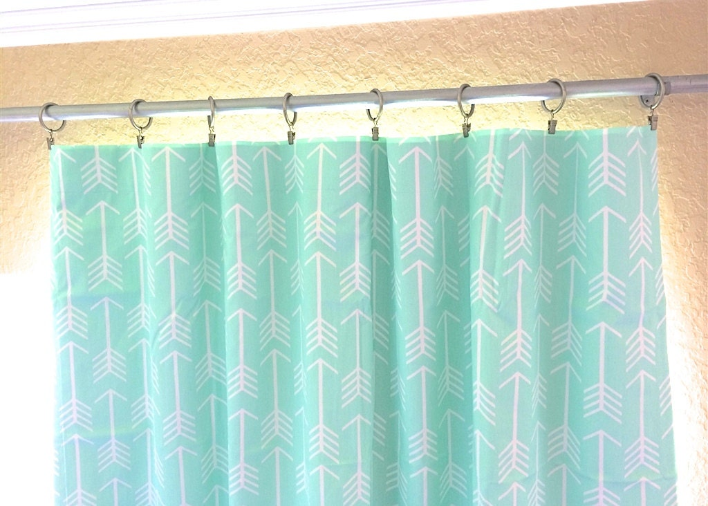 Mint Green Arrows Curtain Panels All Sizes 63 84 96 108