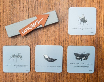 Insect Melamine Coasters