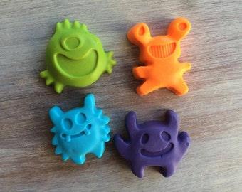 10 MONSTER SOAPS {Favors} - Birthday Soap Favors, Monster themed Party, Character Soap, Halloween, Monster Bash, Mini Monster, Party Favors