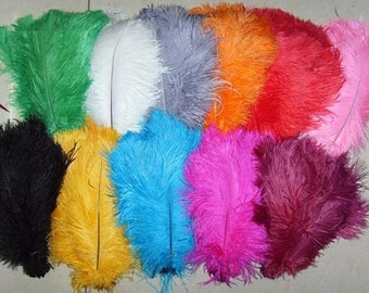 50pcs ostrich feathers,black ostrich,turquoise ostrich,green ostrich,purple ostrich,red ostrich,white ostrich,hot pink ostrich