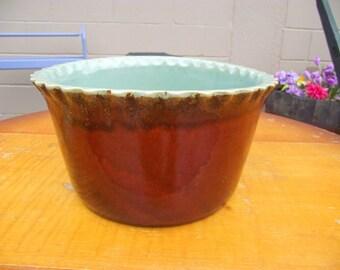"""RARE Country Fare Pottery John B Taylor LOUISVILLE Stoneware Zanesville BIG 9"""" Scalloped Bowl"""