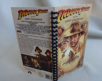 Indiana Jones and the Last Crusade VHS notebook