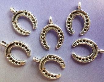 10 pendants, horse shoe, Oktoberfest, bavarian, antique silver