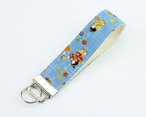 Baby Gifts For Japanese : Japanese kimono key chain handmade fob gift idea under