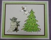 Yoda Star Wars Angel Christmas Card