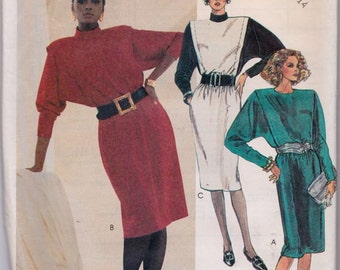 McCall's 2705 Misses' Dress Pattern, UNCUT, Size 10-12-14, Retro, Flashback, Vintage 1986, Work Wear, Casual