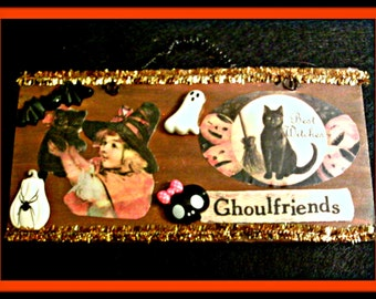 Ghoulfriends Witch Plaque