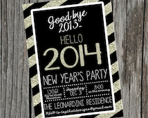 New Year's Eve Party Invitation- Digital