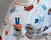 Shirt Saver Full Coverage Baby or Toddler Bib With Long Sleeves and Pocket - Pirates
