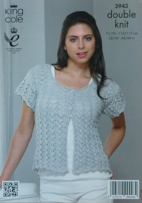 Knitting Pattern Ladies Short Sleeve Jumper : Womens Knitting Pattern K3943 Ladies Short Sleeve Lacy Cardigan Knitting Patt...