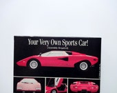 Vintage Lamborghini Car Jigsaw Puzzle 1980s