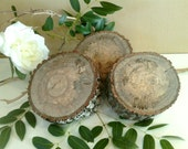 Set of 3 - Rustic Tree stumps - Rustic Wedding decor - Home decor - Centerpiece - Party decor- Trophy display - wood pedestals