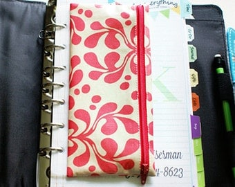 Planner wallet for cash envelope system | 6 tabbed dividers and translucent spine | choice of fabric