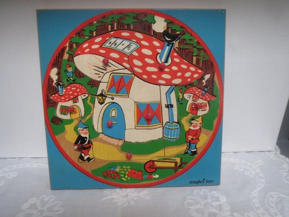 Toys That Were Made In The 1970 : Vintage s wooden puzzle simplex toys made in