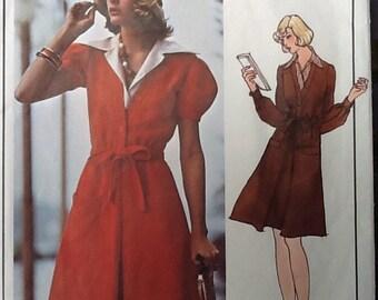 Vintage Jean Patou dress Vogue Paris Original pattern 2938 lantern sleeve size 10
