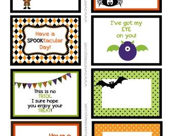 Printable Halloween Lunchbox Notes (Boys)