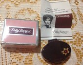 60s Polly Bergen Cream Rouge Chestnut Spice - Blush - Vintage Compact with Mirror and little turtle