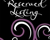 RESERVED for Nicole (worsleyni)