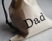 "Optional add on Listing only. Add initials or name to 7.5X10"" bonus bag in Dad's Diaper bag."