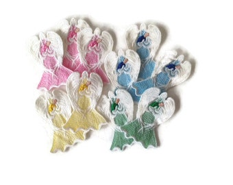 Lace Guardian Angel With Baby - Guardian Lace Angel for Baby Boy - Guardian Lace Angel for Baby Girl