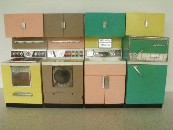 Barbie Size Dream Kitchen Vintage Appliances Reading Toy Co