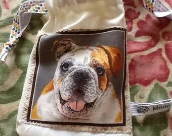 Doggy treat bag - bulldog