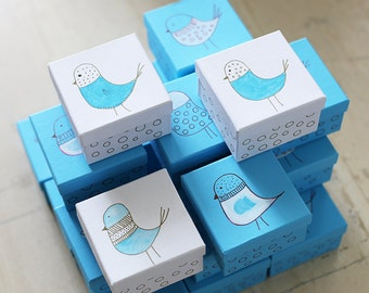 Baptism Favors - Baptism Gifts - Baby Shower Gift Box - Christening - Baptism Hand painted favors' box - Little Bird