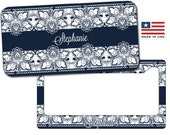Lace Personalized License Plate - Lace Personalized License Plate Frame - Monogrammed Lace License Plate - Personalized License Plate