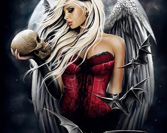 Angel of death gothic fantasy artprint