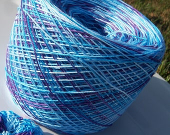 Hand Dyed Crochet Cotton - Size 10 - Under the Sea - Sample Size - 10, 25 or 50 Yards