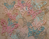 20 pc Total Different Size Scroll Butterfly / Butterflies Die Cut pcs Dreamy colors cardstock paper Wall Hang Photo Shoot Prop DIY Baby
