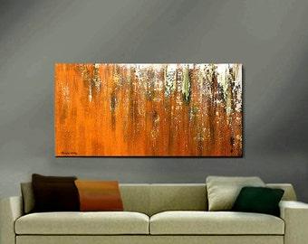 ORIGINAL PAINTING Abstract Large 48x24 Impasto Modern Art by Thomas John