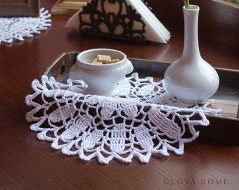 Placemat EPIFANIJA Crochet lace placemat Cotton placemat Crochet table mat Crochet coasters Table decor Home decor Weddig gift