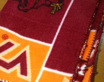 Virginia Tech Hokies Baby Blanket with Crochet Trim