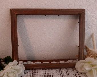 Brown Picture Frame 8 x 10 Picture Photo Rustic Distressed Shabby Chic Country Farm House Beach Cottage Home Decor Fall Autumn Wedding Gift