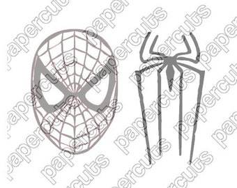 Spiderman digital cut files for cameo and silhouette machines, jpeg, eps, svg, png files included INSTANT DIGITAL DOWNLOAD