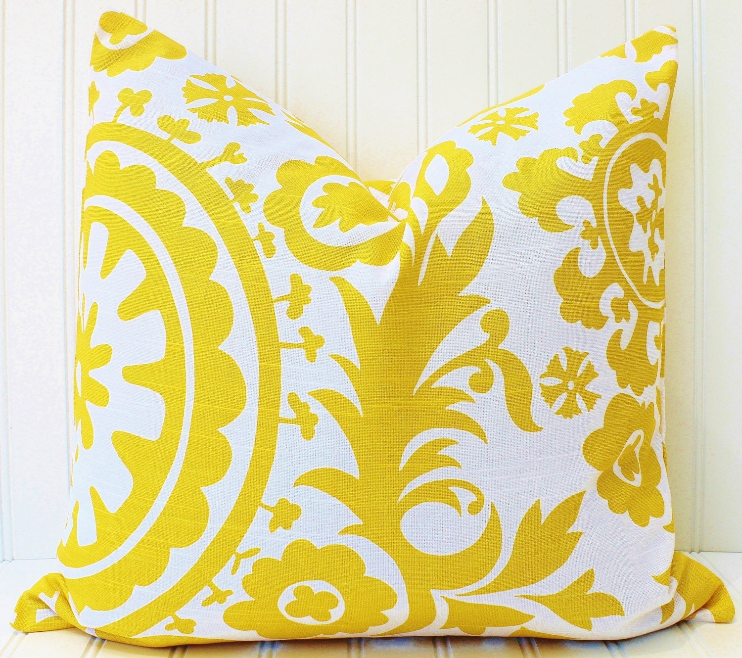 Throw Pillow Covers Yellow : Yellow Pillow Cover Yellow Throw Pillow BrightYellow Cushion