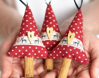 Reindeer Ribbon Natural Christmas Decor Cinnamon Christmas Tree Decoration Scented Christmas Ornament