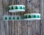 Washi Masking Tape - Green Christmas Tree  Masking Tape