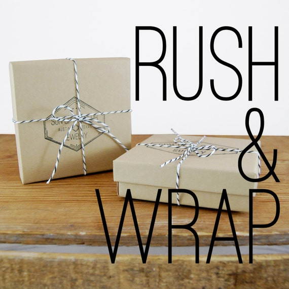 Rush & Wrap: Gift Wrap and Rush Your Item