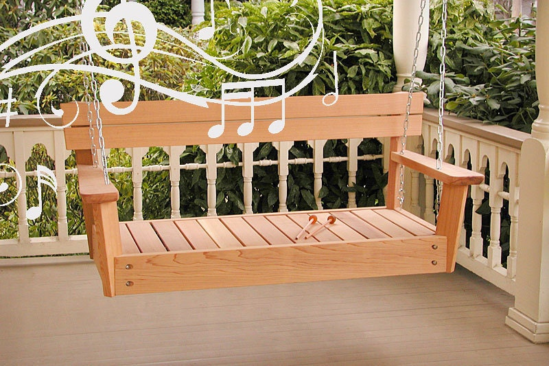 Musical Porch Swing Wooden Swing Made From Cedar For Musical