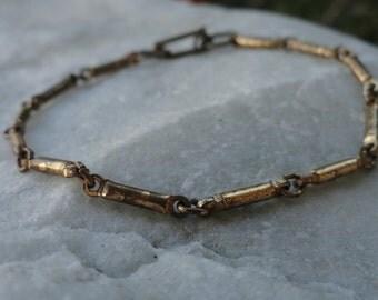 Rustic Metal Link Bracelet