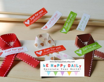 """Seal Stickers """"Just For You"""" for DIY Wedding, Packaging and Wrapping: 20 Pieces"""