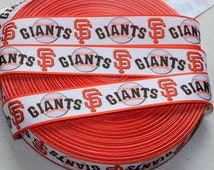 "5 YARDS-7/8"" San Francisco Giants Grosgrain Ribbon-5 YARDS"